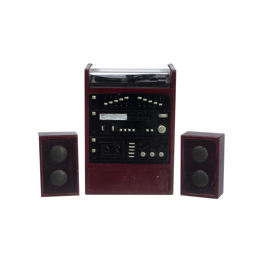 1 Inch Scale Dollhouse Miniature Stereo with Speakers