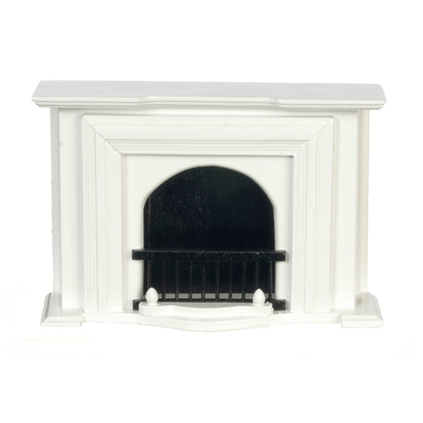 1 Inch Scale White Dollhouse Fireplace