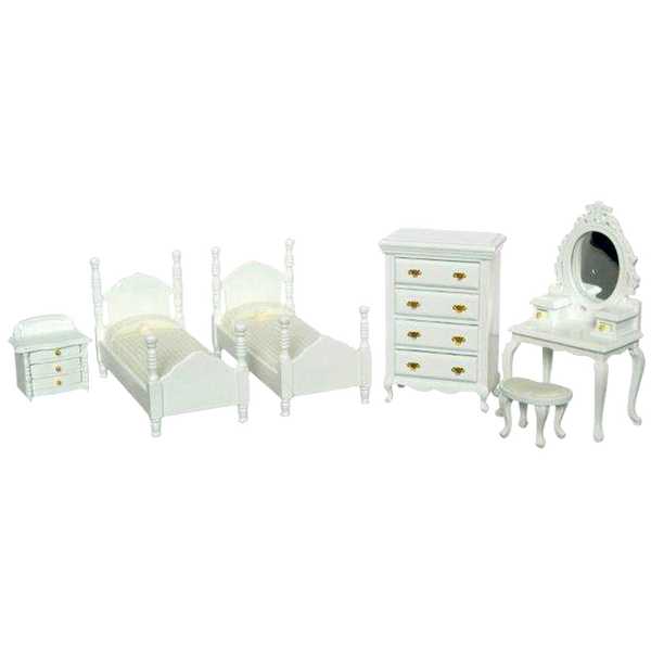 1 Inch Scale Dollhouse Bedroom Set