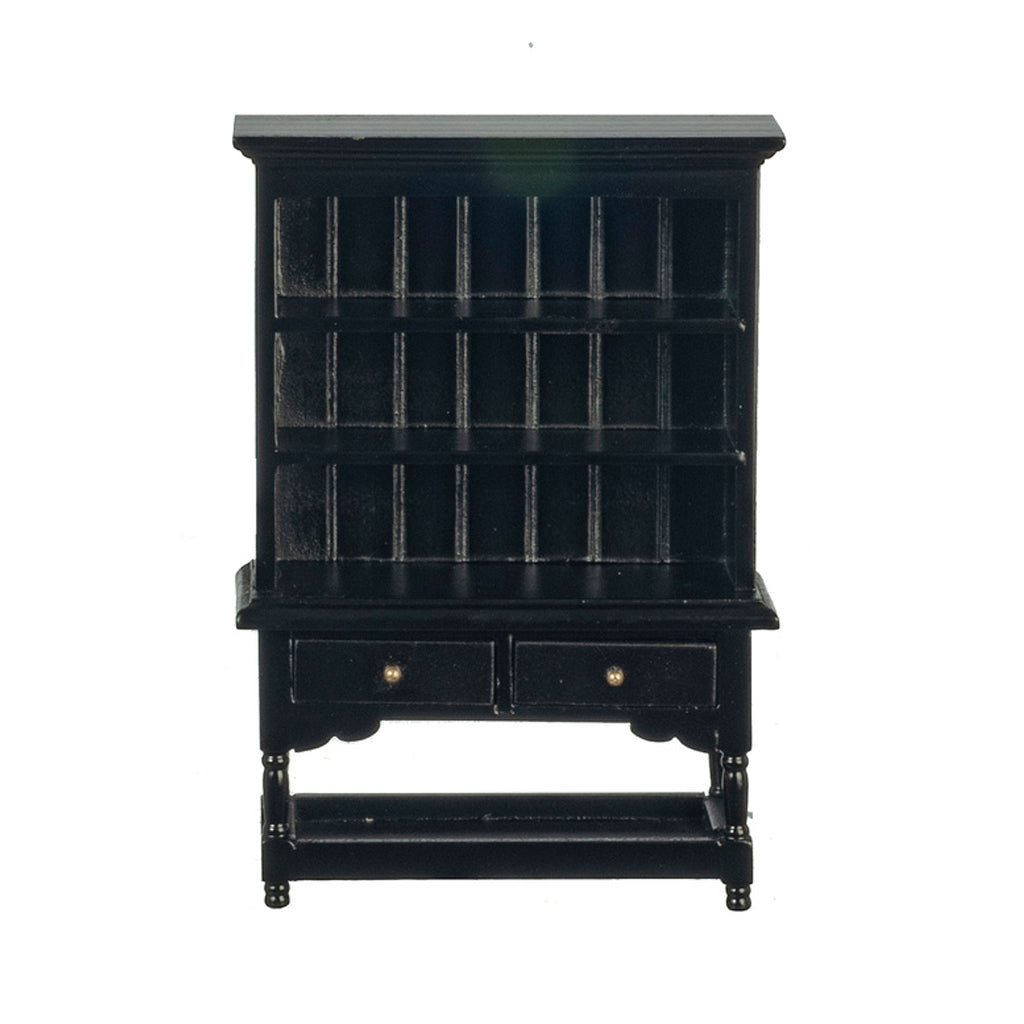 1 Inch Scale Dollhouse Miniature Kitchen or Dining Room Hutch in Black