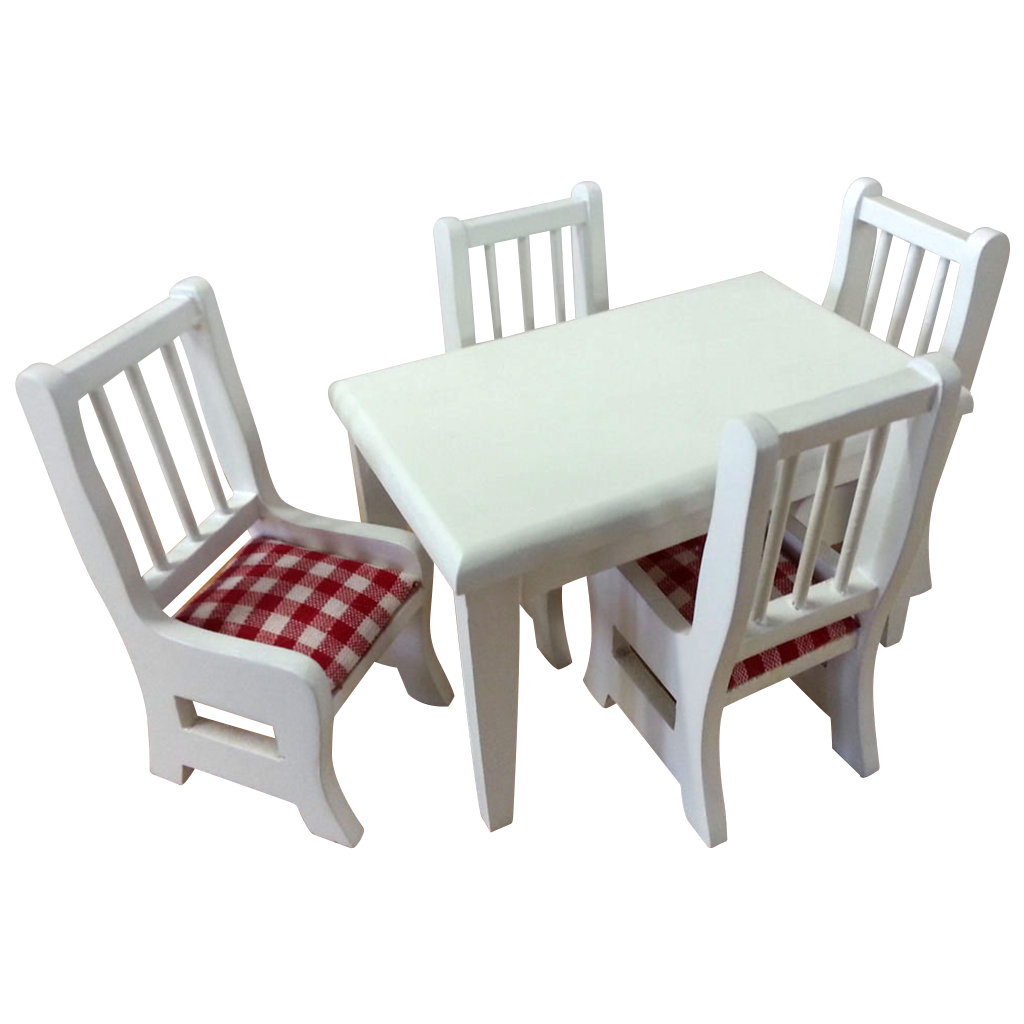 1 Inch Scale Dollhouse Dining Room Set