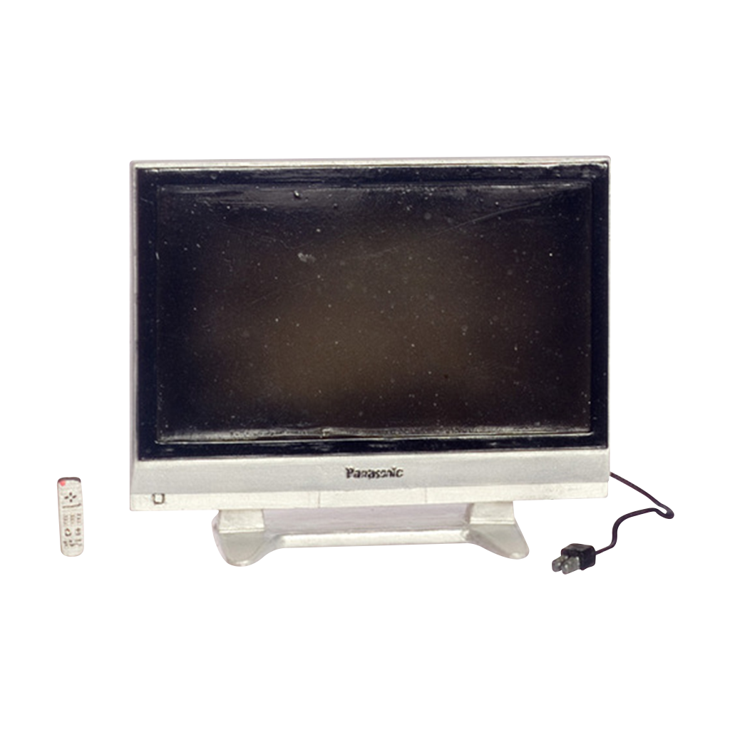 1 Inch Scale Dollhouse Widescreen Television