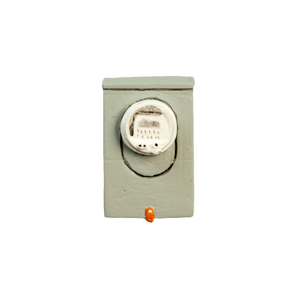 1 Inch Scale Dollhouse Miniature Electric Meter