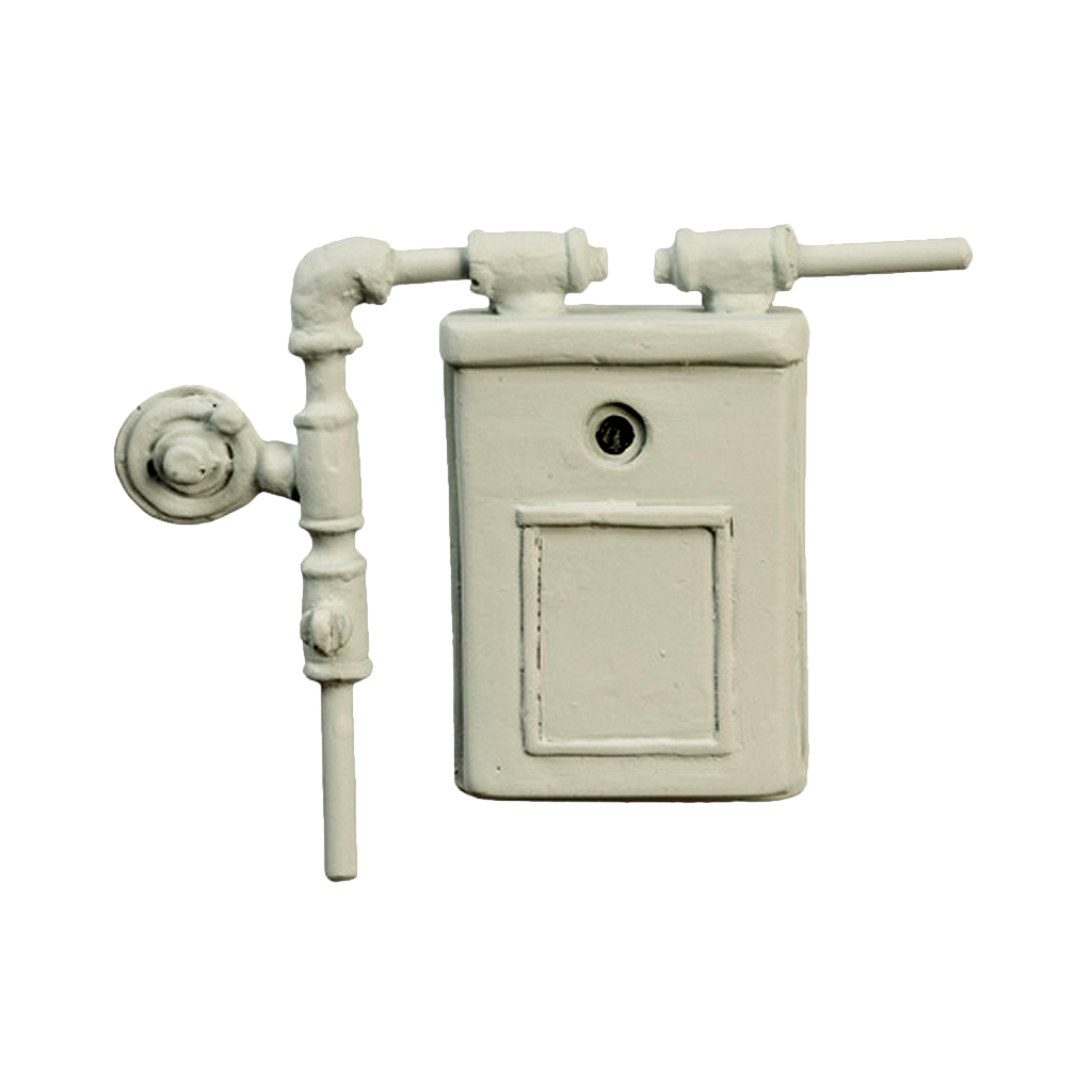 1 Inch Scale Dollhouse Miniature Gas Meter