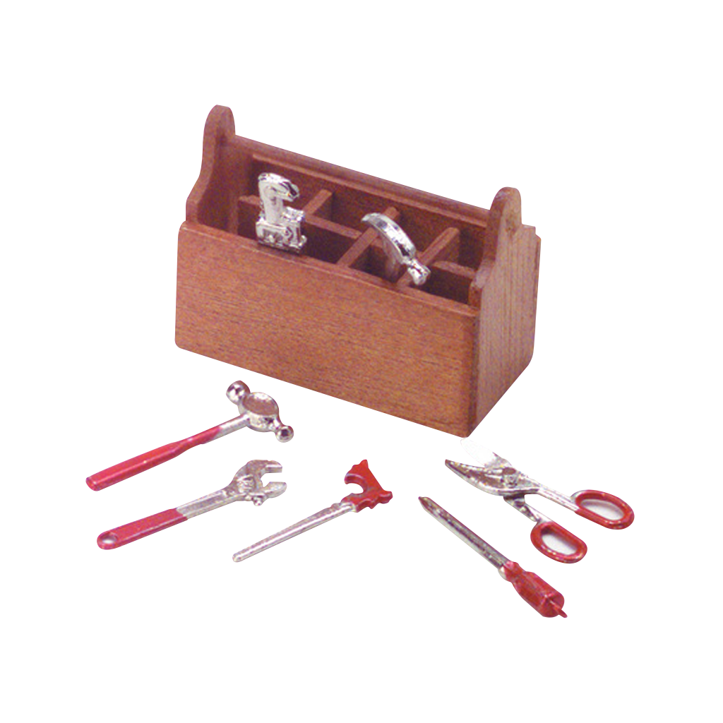 1 Inch Scale Dollhouse Miniature Tool Box with Tools