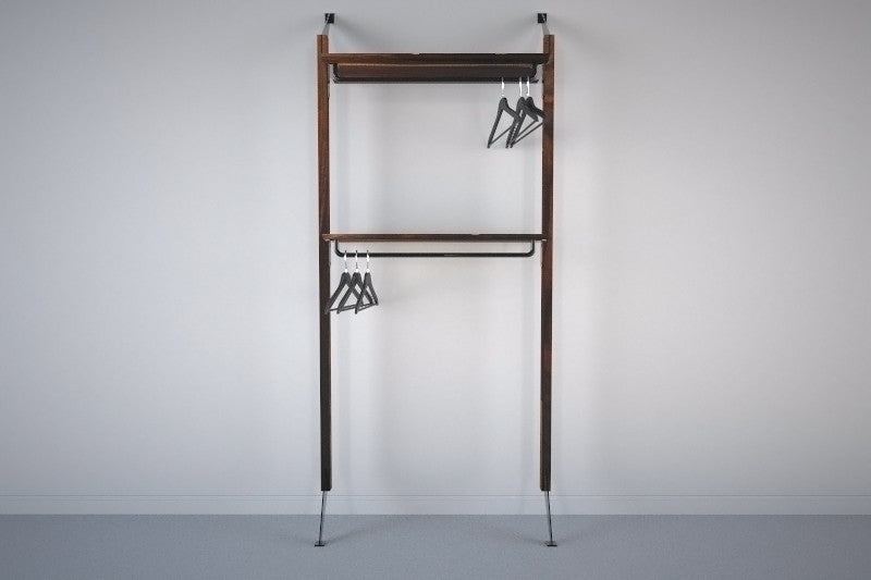 Apollo Wall System with Clothing Racks