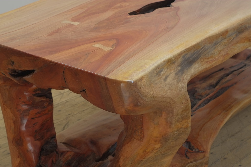 Ingas Wood Table - The Beast with Shelf