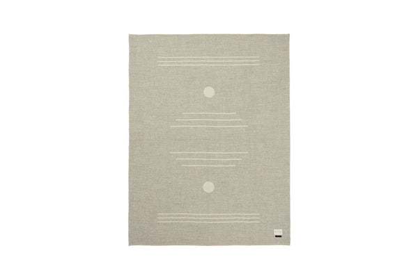 Harvest Moon Reversible Throw - Light Heather / Ivory