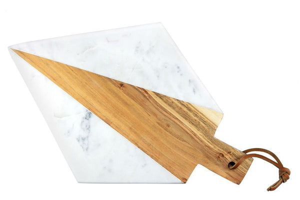 Marble and Acacia Cutting Board