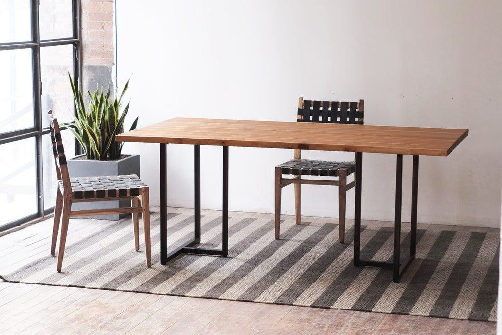 Teak Kali + Tee Dining Table