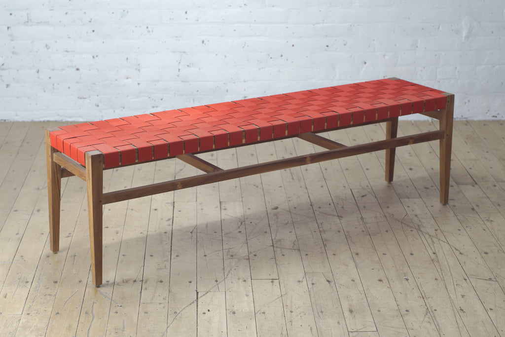 Clearance Grasshopper Bench - Red Outdoor