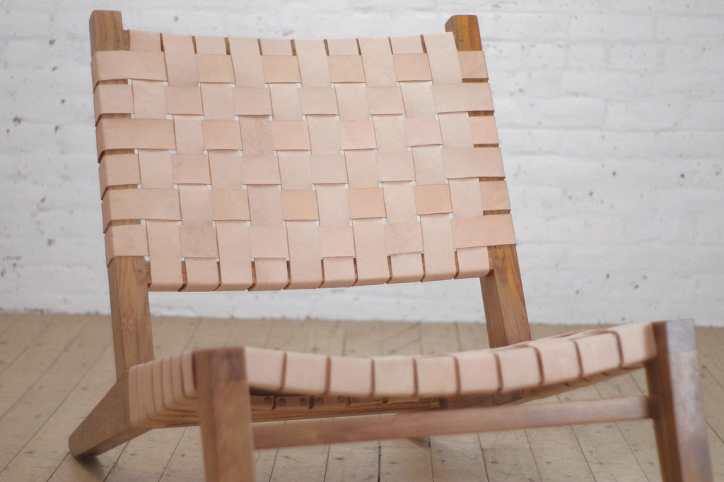 Grasshopper Lounge Chair Leather