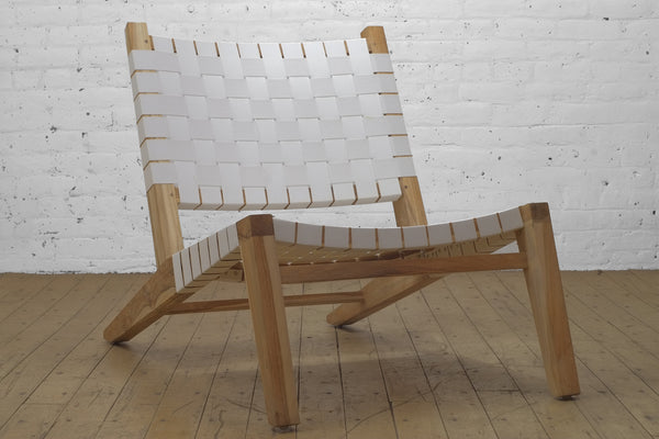 Grasshopper Lounge Chair White Outdoor