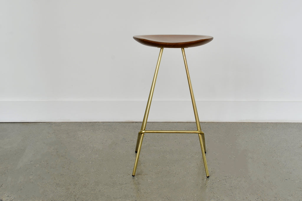 Perch Stool • Brass