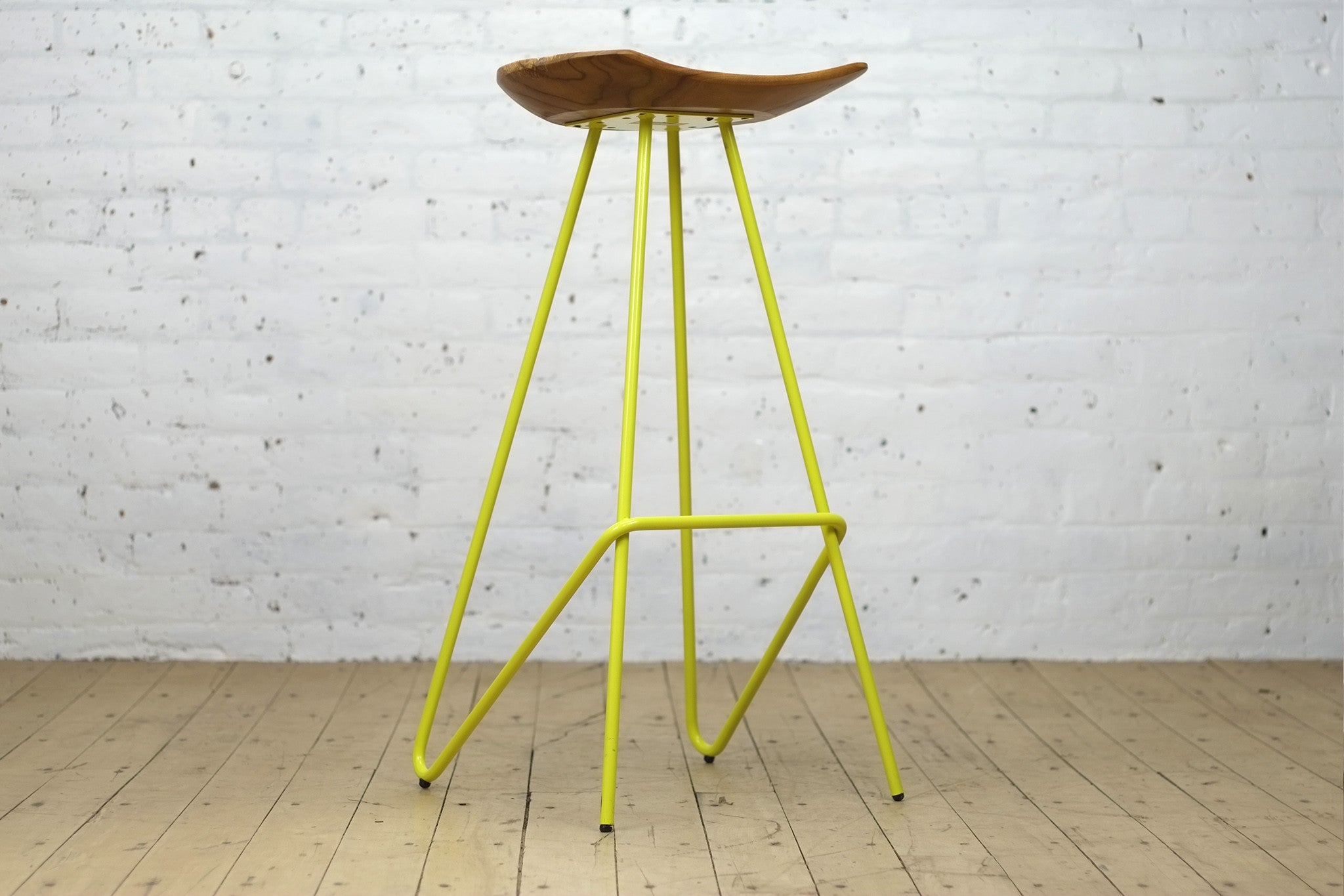 perch stool u2022 yellow