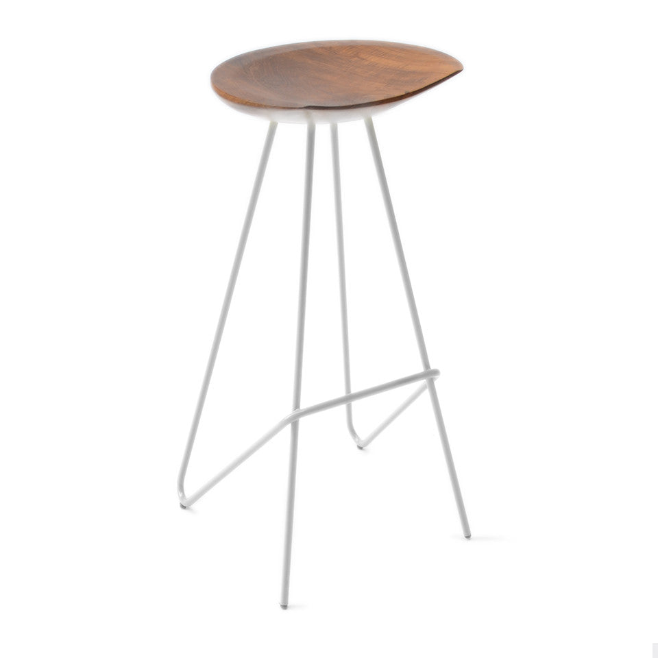 Groovy Perch Stool White From The Source Gmtry Best Dining Table And Chair Ideas Images Gmtryco