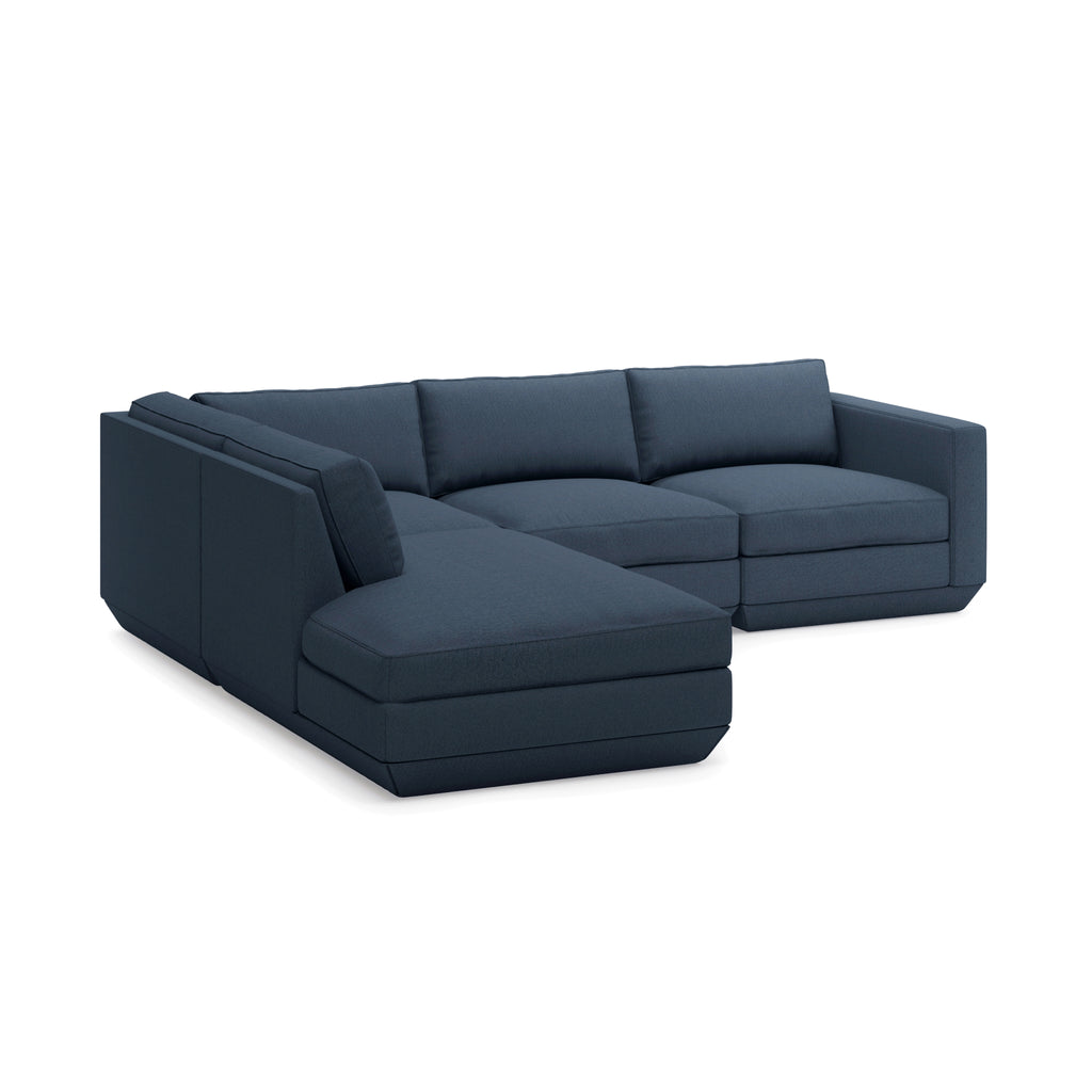 Podium Modular 4PC Sectional Left