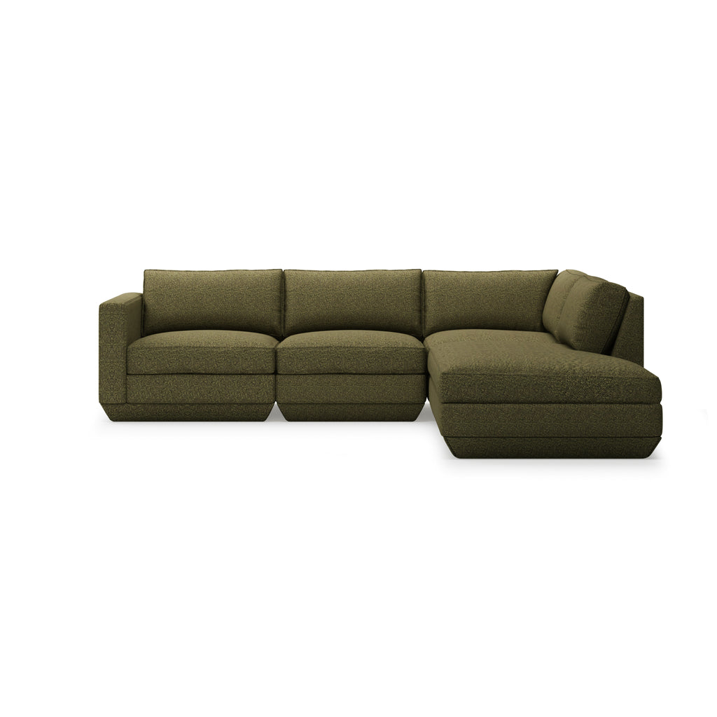 Podium 4PC Lounge Sectional A - Right Facing