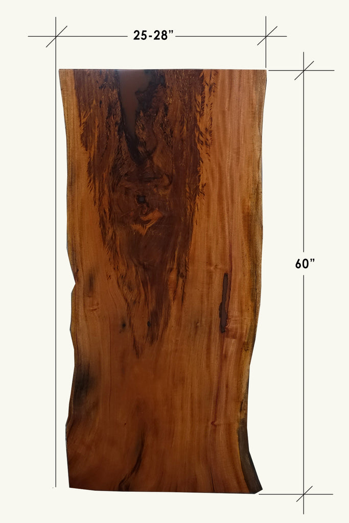 Slab Kali Live Edge Top - Mahogany - E9275