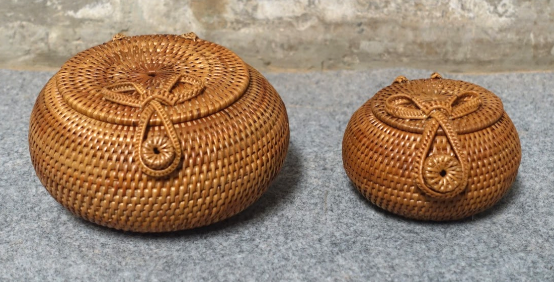 Woven Bowl with Lid (Small)