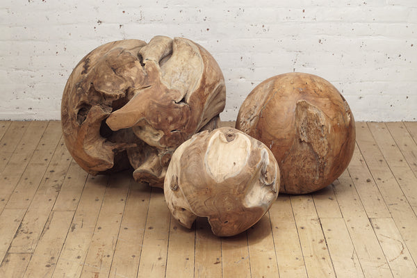 Teak Root Sculpture Ball From The Source