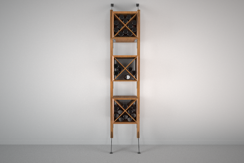 Apollo Wall System with Wine Storage