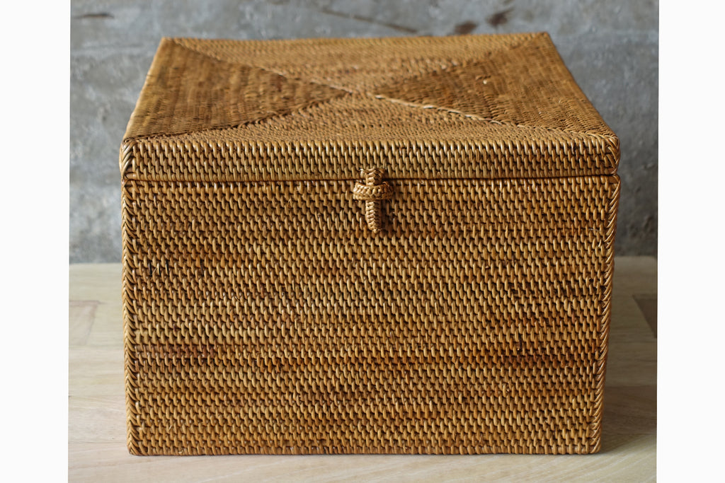 Woven Basket with Lid