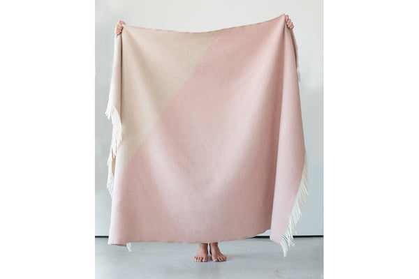 Triangle Blanket - Chalk