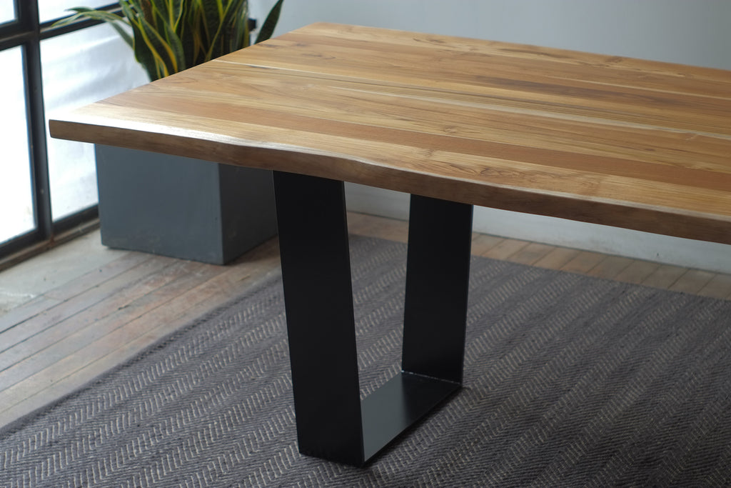 Teak Kali Live Edge + Orion Dining Table