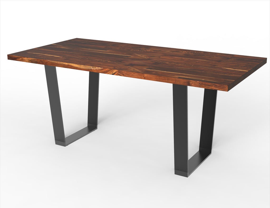 The Orion Narrow + Lurus Straight Edge Dining Table