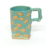 Mug, turquoise branch by Hayne Bayless