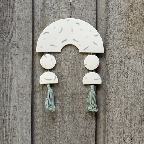 Rainbow Tassel Wall Hanging by The Beige Motel