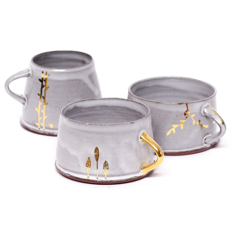 Foliage Mug with Gold Luster by Danielle Carelock