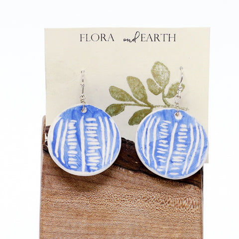Circle Ceramic Earrings by Flora and Earth Ceramics