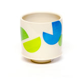 Porcelain Retro Remix Footed Cup by Amanda Love