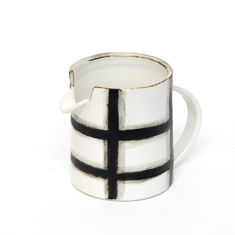 black windowpane pitcher by Theresa Choi