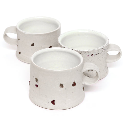 Custom Set of Two Place Mugs by Sarah Steininger Leroux