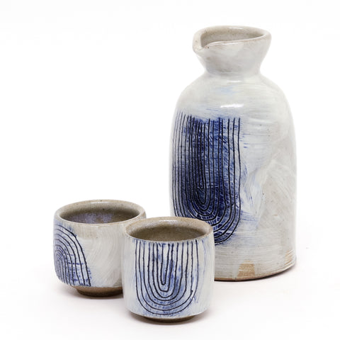 River Sake Set by Sarah Steininger Leroux