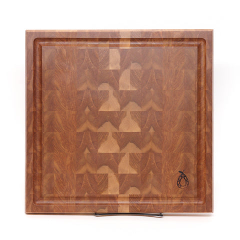 Red Birch End Grain Chef's Board