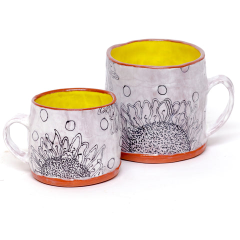 Large Sunflower Mug by Michelle Ettrick