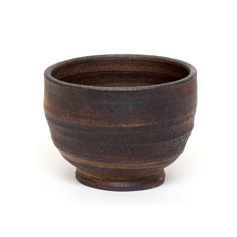 Black Wood-Fired Chawan by Dom Venzant