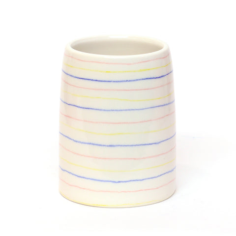 Striped Porcelain Vase