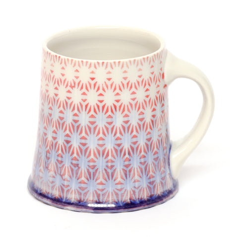 Red/Blue Floral Mug by Chris Hosbach