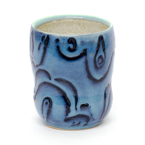 Drippy Blue Tumbler by Phi Le
