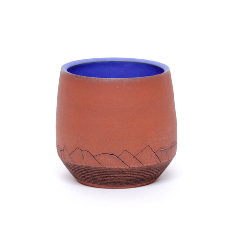 Mountain Edge Tumbler, Blue by Jess Grady-Benson