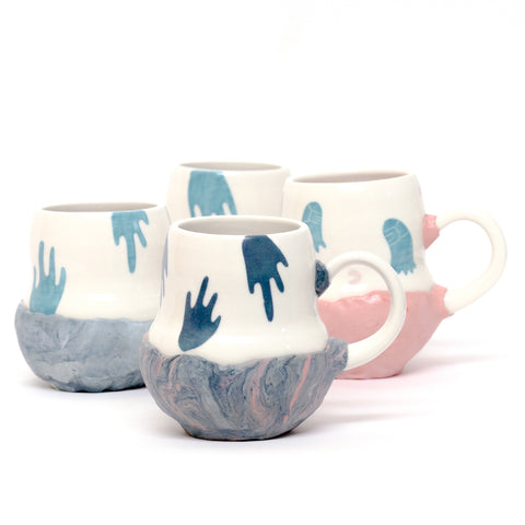Floating Hands Mug by Coco Spadoni