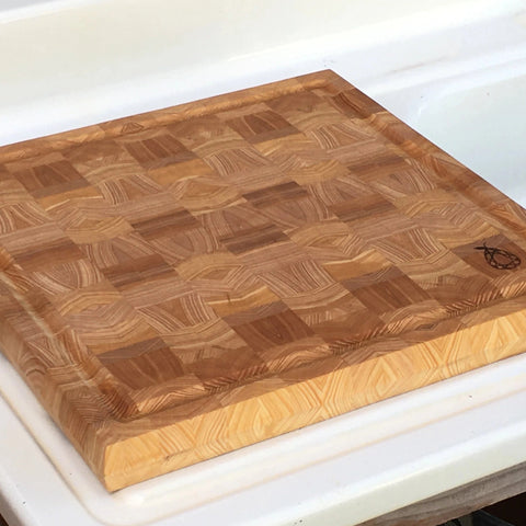 Cypress End Grain Cutting Board by Ruby Pear Woodworks
