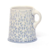 Light Blue & White Trapezoids Mug by Chris Hosbach