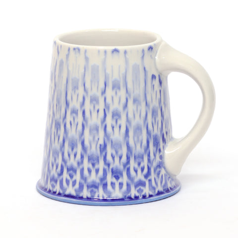 Blue & White Cubed Mug by Chris Hosbach