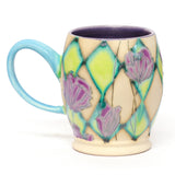 Mug with Purple Poppies by Shana Salaff